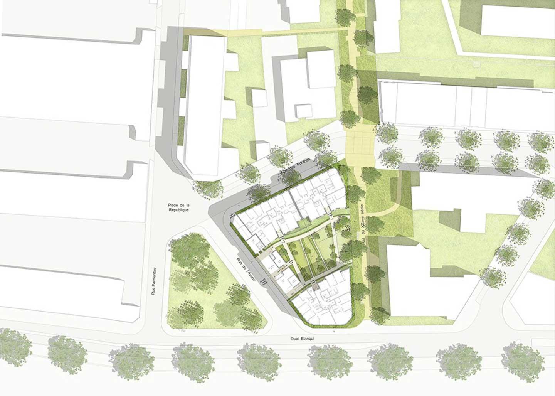 Plan aérien du projet résidence alfortville