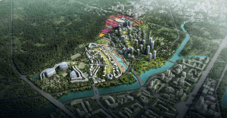 Eco quartier Chengdu Chine