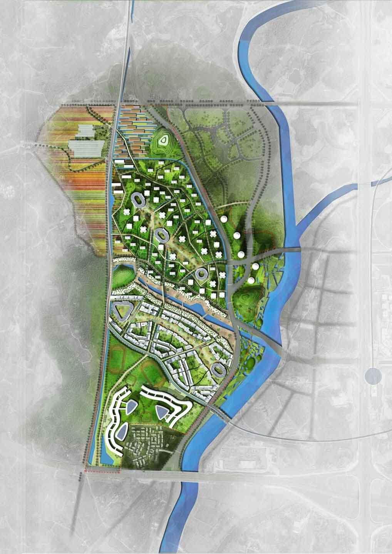 Plan aerien eco quartier Chengdu