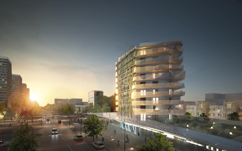 Immeuble balcon design