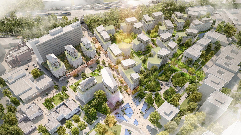 Projet renouvellement urbain Boissy-Saint-Leger Vue d'ensemble